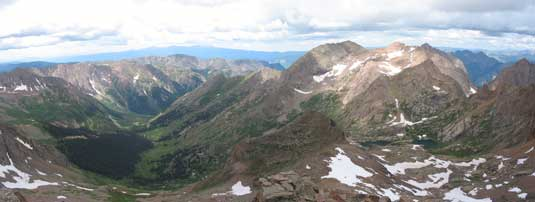 View from Windom Peak